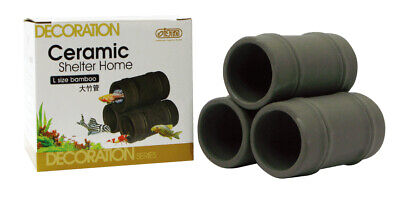 Ista Ceramic Cave Hiding Shelter Home Hide Pleco Shrimp Catfish Breeding M Or L • 10.99£