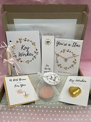 Key Worker Thank You Gift Set Letterbox Gift Box NHS Nurse Doctor Care Worker • 8£
