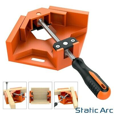 Right Angle Corner Clamp 90 Deg Vice Grip Welding Wood Frame Mitre Fix Swing Jaw • 10.99£