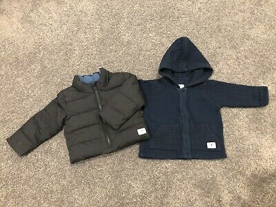 AU56 • Buy Country Road Baby Winter Jacket Size 0 (6-12 Months) Black And Navy Blue