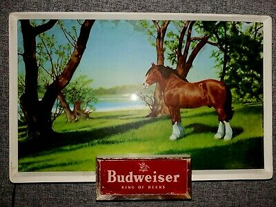 $ CDN285 • Buy RARE VINTAGE BUDWEISER KING OF BEERS CLYDESDALE Light Up Electric Horse Sign