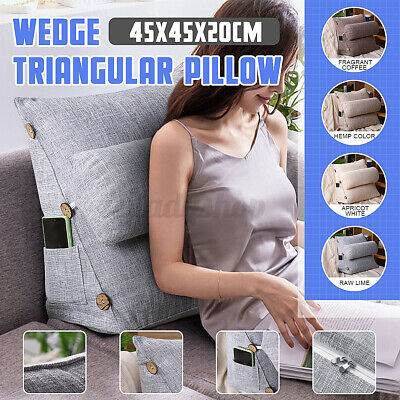 AU31.85 • Buy Adjustable Back Wedge Cushion Pillow Sofa Bed Office Chair Rest Neck Support AU