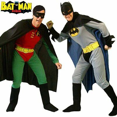 Batman/Robin Mens Superhero Adults Costume Stag Party Fancy Dress Cosplay Outfit • 14.99£