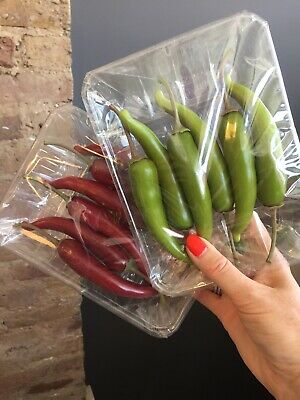 Artificial Plastic Fake Veg For Home,Art,Decor - Red/Green Chilli Pack Of6 - X 4 • 18£