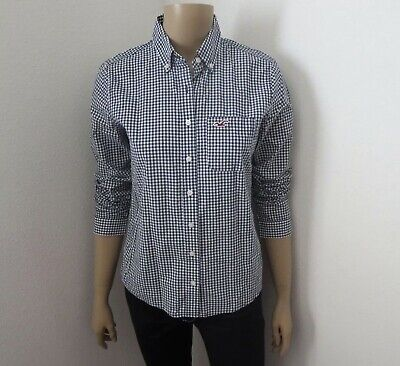 AU9.95 • Buy HOLLISTER Size S Button Shirt Navy & White Check Abercrombie & Fitch Womens
