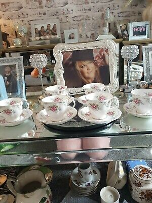 Vintage 1969 Royal Albert Bone China England Tranquility Cup And Saucer X 6 • 65£