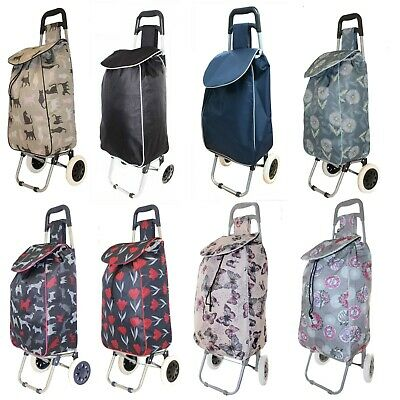 Large Lightweight Wheeled Shopping Trolley Push Cart Luggage Bag With Wheels New • 11.99£