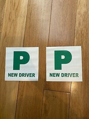 2 New Driver Pass P Plates Magnetic. • 2.20£