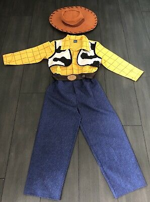Disney Pixar Toy Story Woody Fancy Dress Outfit Age 7-8 Years With Hat • 7.99£