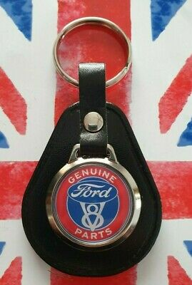 £4.89 • Buy Genuine Ford Parts V8 Classic Car Hot Rod Cortina Escort Leather Keyring