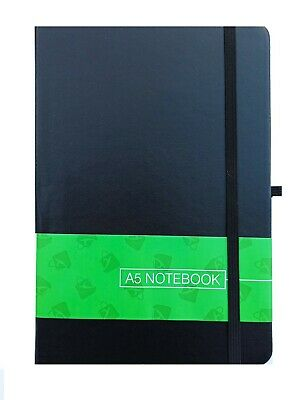 A5 Hardback Lined Notepad Notebook Note Book Notes Journal Diary Black RedOffice • 4.99£