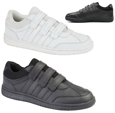 £14.95 • Buy Mens WIDE Fit Touch Fasten Trainers Sneakers Pumps Lightweight Casual Shoe Size