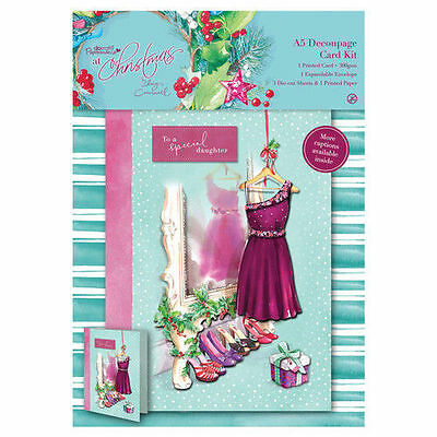 Papermania 'At Christmas By Lucy Cromwell' A5 Decoupage Card Kit  • 1.99£