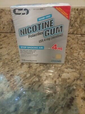 $ CDN15.26 • Buy Rugby Nicotine Gum 4mg Uncoated Original  1 Box 110 Pieces
