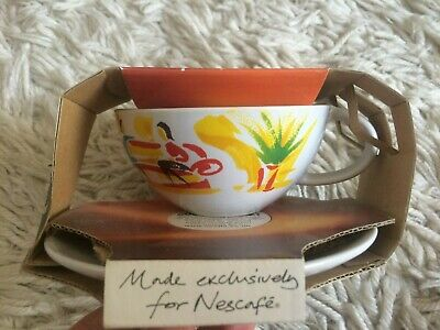 Collectable Nescafe Cup And Saucer Set In Original Packaging Cafe Scene • 3£