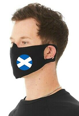 Scottish Flag  Unisex 4 Ply Cotton Jersey Face Covering/Masks. Scotland/Flags • 9.99£