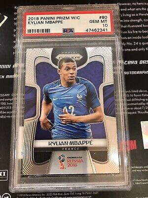 $ CDN1873.47 • Buy 2018 Panini Prizm World Cup Kylian Mbappe #80 Rookie RC France PSA 10