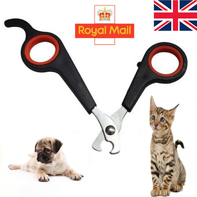 Pet Dog Nail Clippers Cat Rabbit Bird Guinea Pig Easy Use Claw Trimmers Scissors • 2.85£