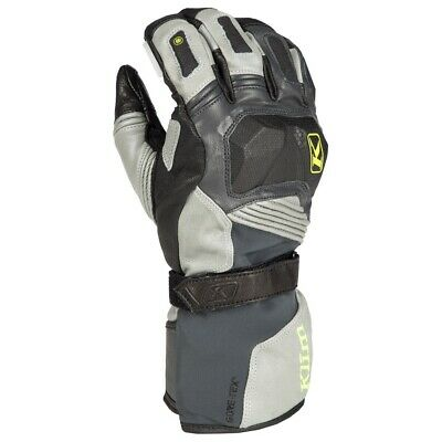 $ CDN355 • Buy Klim Badlands Gore-Tex Grey Long Motorcycle Gloves - Free Shipping!