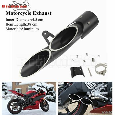 $61.37 • Buy Black Dual-outlet Exhaust Tail Pipe Muffler Tip For Yamaha YZF R6 Suzuki GSX-R