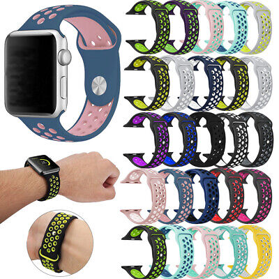 $ CDN4.99 • Buy Replacement Silicone Wrist Bracelet Sport Band Strap For Apple Watch 40/44/38mm