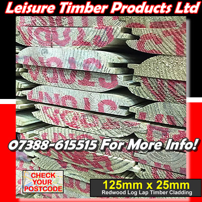 £807.30 • Buy 60 Boards X 4.5m T&G Loglap Tanalised Timber Cladding 25mm X 125mm See Postcodes