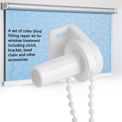 17mm Window Curtain Beads Chain Roller Blind Shade Cluth Bracket Accessories Set • 3.29£