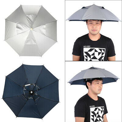 AU11.78 • Buy Foldable Umbrella Hat  Fishing Camping Headwear Head Cap Hat  Protection❤A
