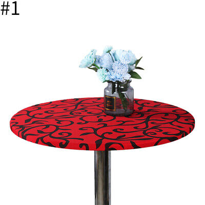 AU11.32 • Buy Round Table Cover Elastic Dining Room Tablecloth Home Wedding Party Decoration