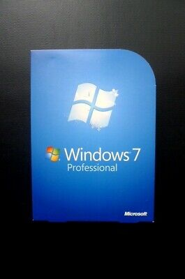 Microsoft Windows 7 Professional Pro UK Retail Boxed 32/64-bit DVD Product Key • 89£