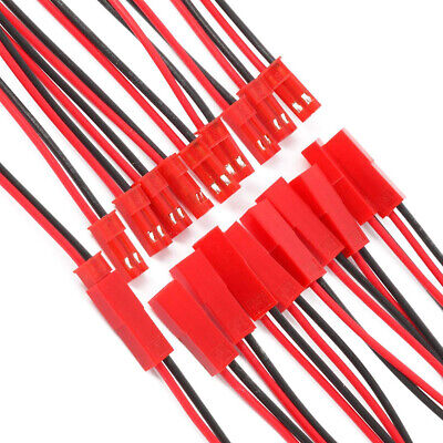 AU6.99 • Buy 5 Pair JST Connector Plug 10cm Cable 2 Pin Battery Wire For RC Car Drone