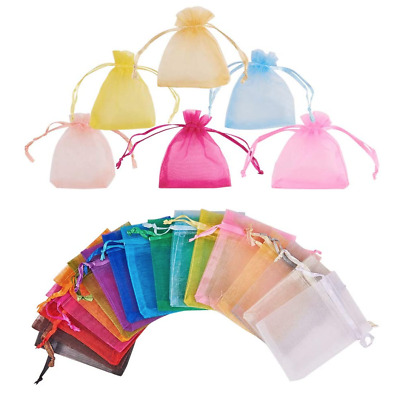 £3.59 • Buy Organza Bag Party Wedding Favour Birthday Gift Candy Jewellery Pouch Large/Small