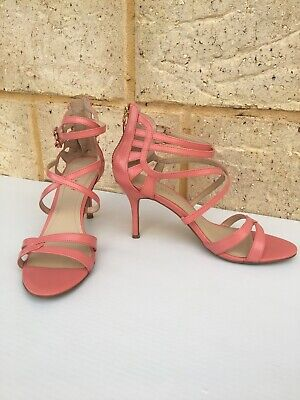 AU39 • Buy Nine West Going Steady Sandal Shoes Size 7 M Pink Open Toe Strappy Stiletto Heel