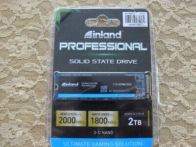 $ CDN295.28 • Buy Inland Pro Series 2TB SSD 3D QLC NAND M2 PCIe Gen 3 X 4 NVMe Solid State Drive