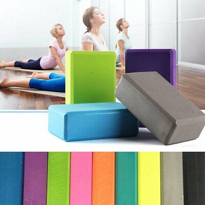 Yoga Block Pilates Foam Foaming Brick Stretch Health Fitness Exercise Home  New • 3.12£