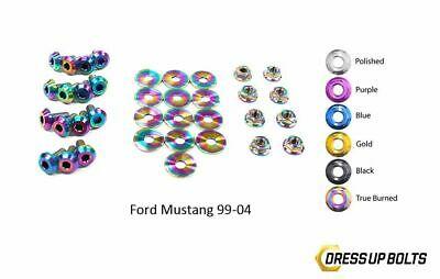 $164.99 • Buy Dress Up Bolts Mustang GT 99-04 Cobra 03-04 Titanium Engine Bay Kit True Burned
