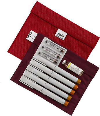Frio Insulin Cooling Wallet Large Extra Travel Red Pouch Wallets • 21.99£