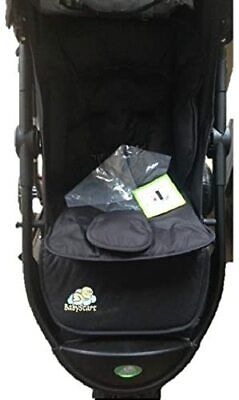 BRAND NEW BabyStart Deluxe 3 Wheeler Baby Pushchair Black With Footmuff  • 30£