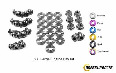 $ CDN263.63 • Buy Dress Up Bolts IS300 Altezza 98-05 2JZ-GE Titanium Partial Engine Bay Kit Black
