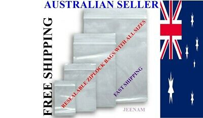 AU4.40 • Buy Small Large Sizes Zip Lock Plastic Bags Resealable WHOLESALE BULK +FREE SHIPPING