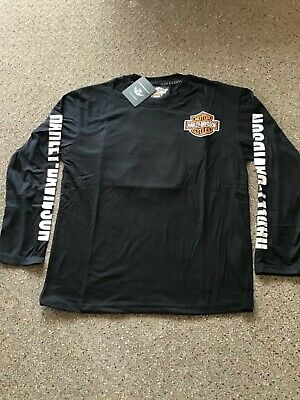 AU59 • Buy Harley-Davidson Embroidered Long Sleeved   T.shirt Size Extra Large, Free Post