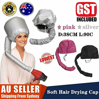 AU11.99 • Buy Bonnet Hair Drying Cap Hat Hood Soft Womens Blow Dryer Hairdressing Tool Home AU