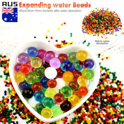 AU17.99 • Buy 10000/50000pcs Crystal Water Balls Jelly Gel Beads For Vases Orbeez MultiColor