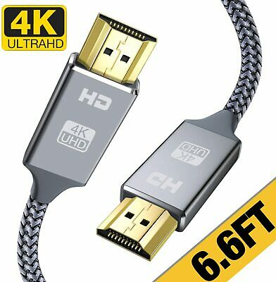 $ CDN13.05 • Buy 4K HDMI Cable 6.6 Ft High Speed 18Gbps HDMI 2.0 Cable4K 3D 2160P 1080P Etherne