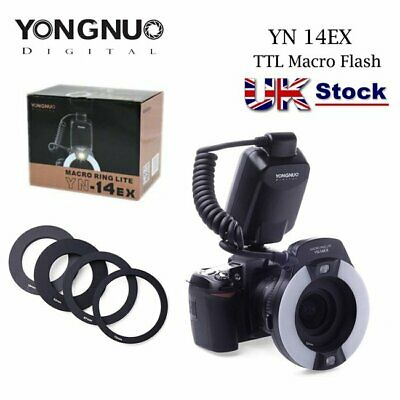 YONGNUO YN-14EX TTL Flash Light With Macro Ring Adater For Canon 700D 650D 50D • 85.99£