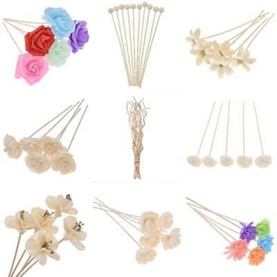 AU4.88 • Buy 5X Artificial Flower Rattan Reed Refill Stick Fragrance Diffuser Oil Aroma Decor
