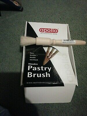 £1.99 • Buy Apollo Housewares Baking Wooden Pastry Brush With Bristles - 1 Supplied, 18cm