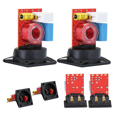$ CDN20.67 • Buy 2X 80W Treble Bass Frenquency Divider 2 Way Speaker Audio Crossover Filter Board