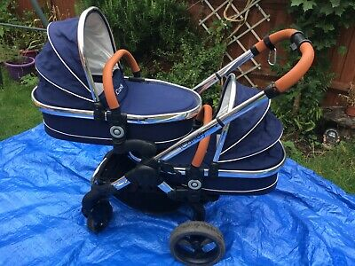 ICandy Peach Blossom Twin Complete Set Carry Cots, Pushchair, Car Seat Adaptors • 550£