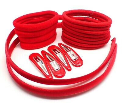 $ CDN8.74 • Buy 20x GIRLS SCHOOL HAIR ACCESSORIES Red, Headbands Hair Clips Slides Hair